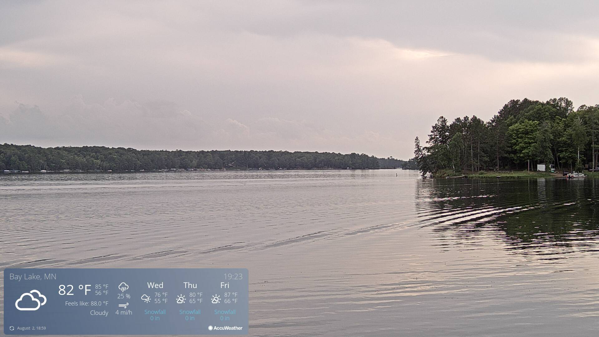 Bay Lake Webcam Deerwood, MN